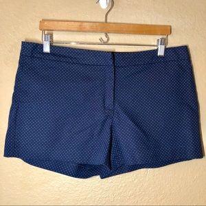 Cynthia Rowley Navy Blue Polka-Dot Shorts, Size 12